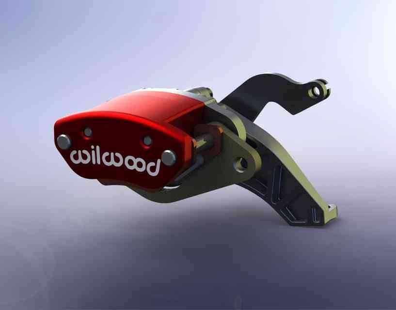 机械驻车制动钳3D打印模型插图1