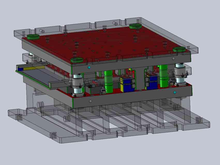 工具模具的金属板3D打印模型