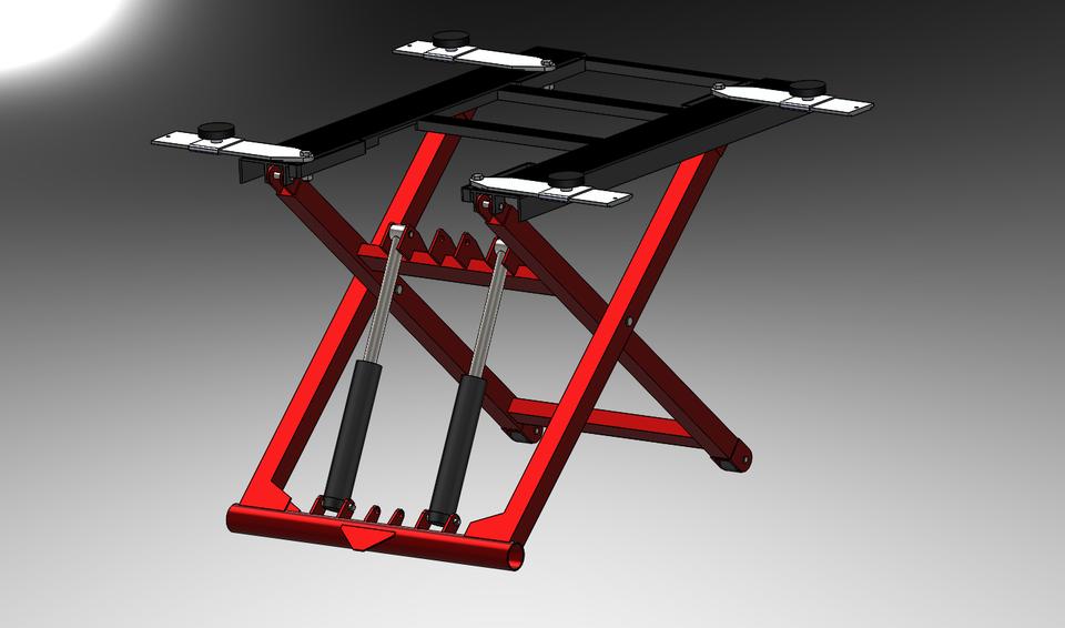 移动式液压剪式举升机(便携式液压剪式升降机)3D打印模型