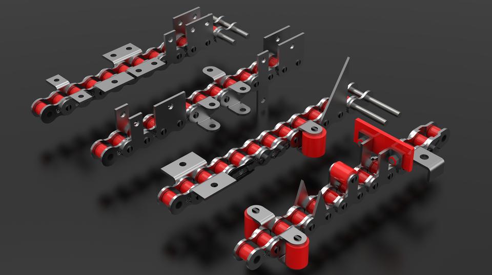 滚子链。附件类型3D打印模型插图1