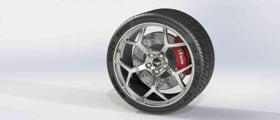 铝合金轮毂3D打印模型