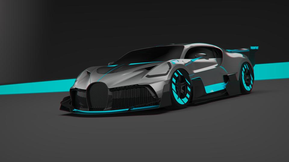 布加迪迪沃 -  GT概念3D打印模型插图1