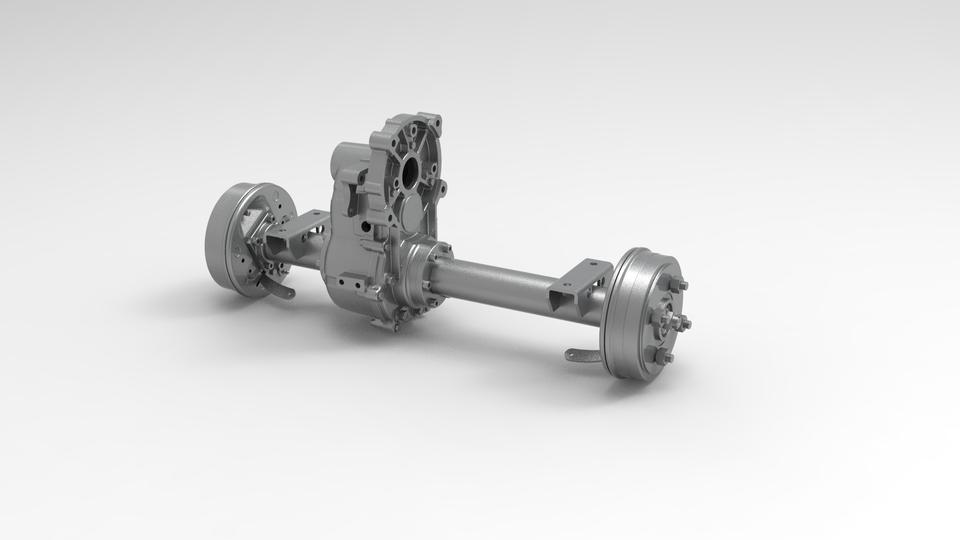 变速箱(电动汽车)3D打印模型 1