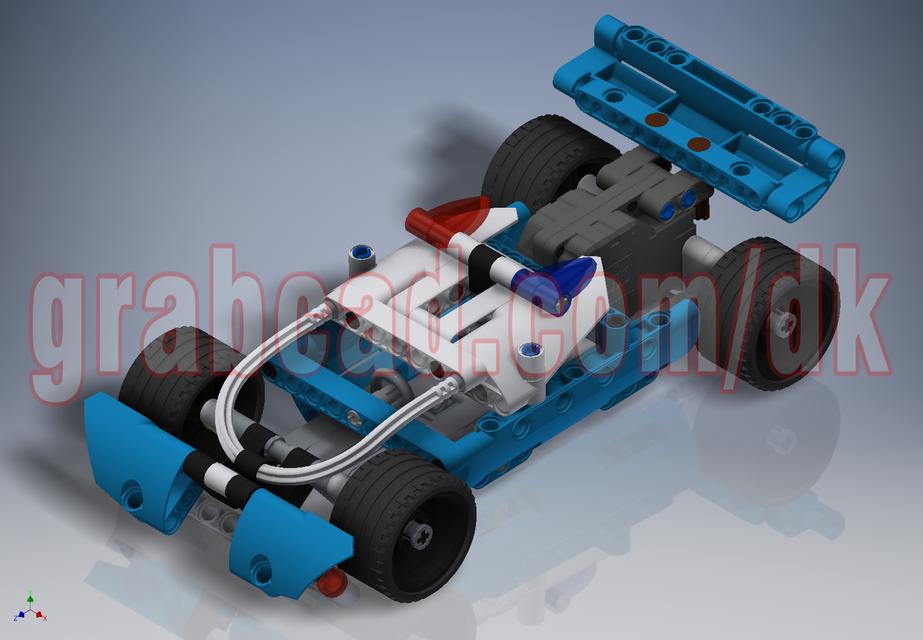 乐高积木警方追捕3D打印模型 1