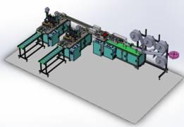口罩制作机的3D模型(一拖二)