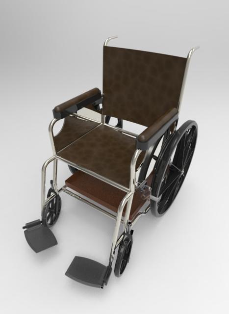 轮椅3D打印模型