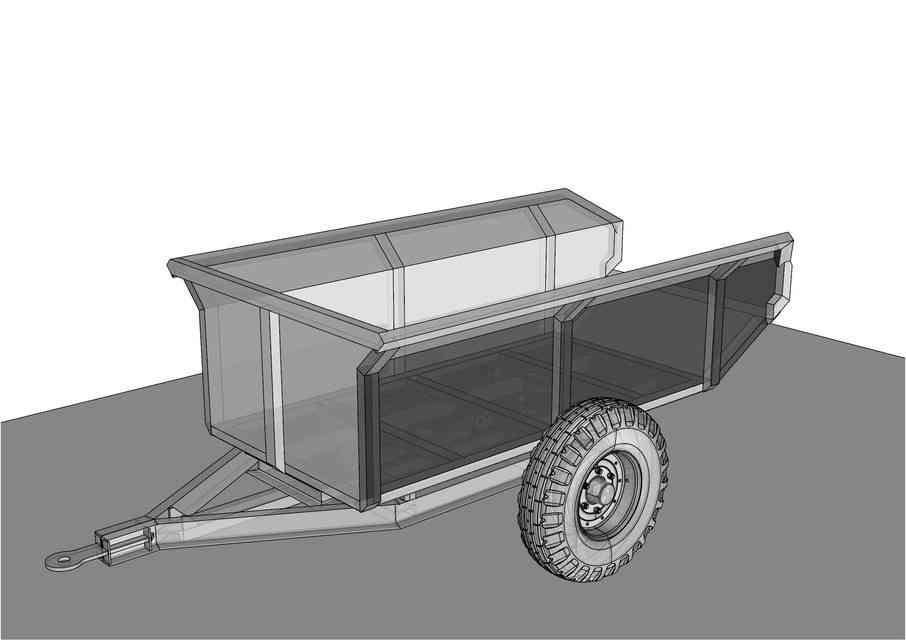 FARM TIP拖车3D打印模型