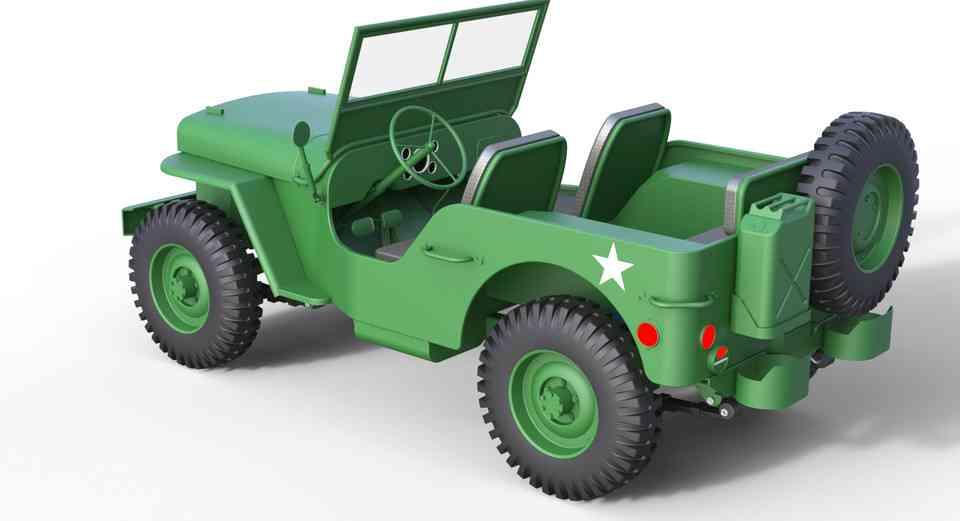 威利斯吉普车3D打印模型插图1