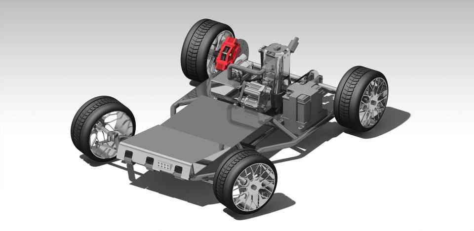 氢动力自主车3D打印模型插图1