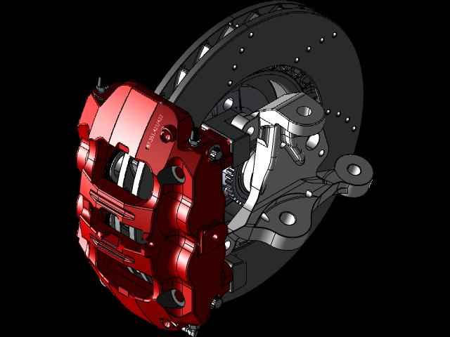 MX5,Miata的 - 保时捷卡曼981卡尺305毫米盘3D打印模型插图1