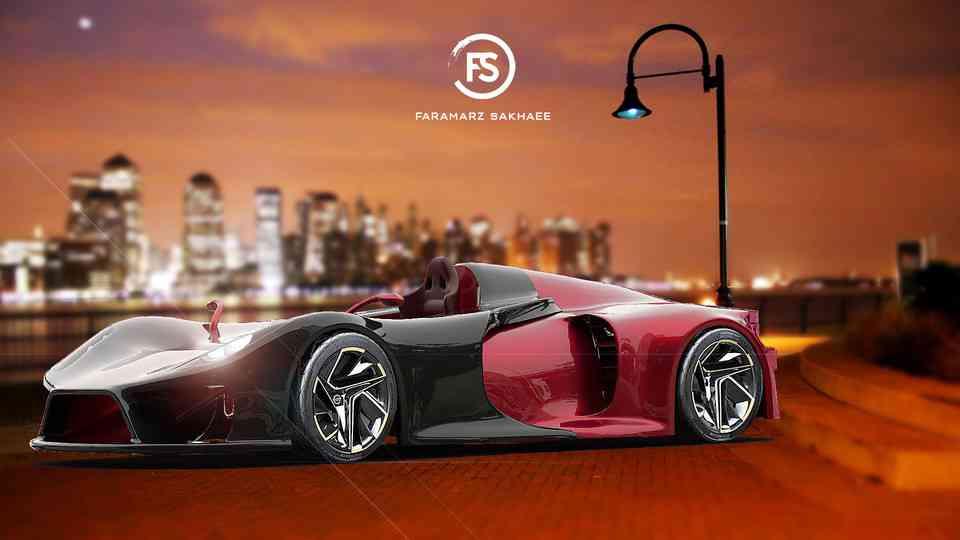 概念跑车车3D打印模型插图1