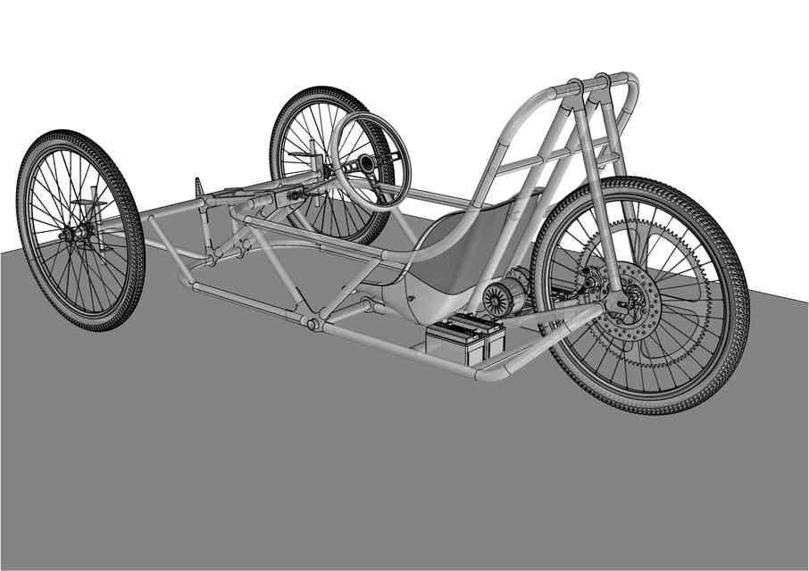 学生EV-CHALLENGE吊车架3D打印模型