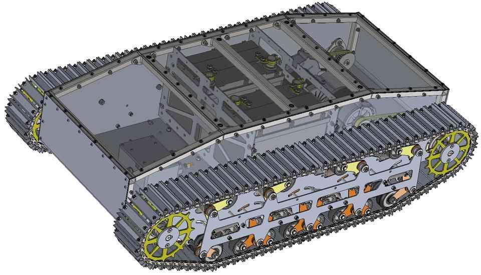 履带车3D打印模型 1