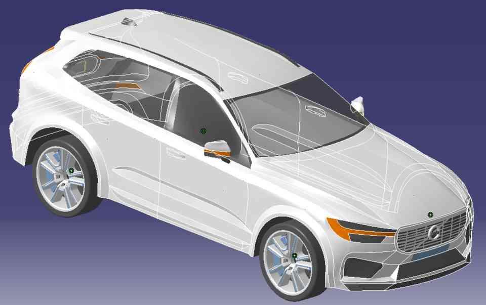 沃尔沃汽车3D打印模型 1