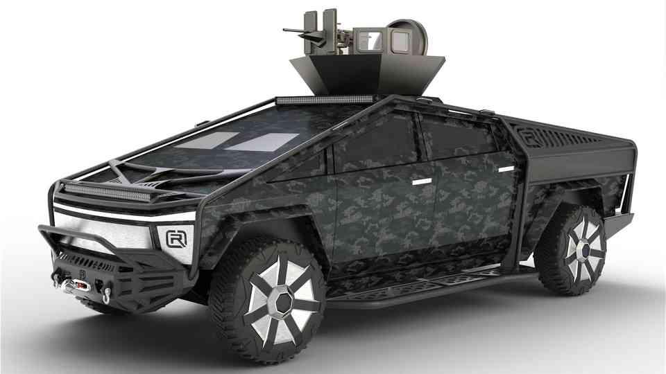 特斯拉网络卡车3D打印模型 1