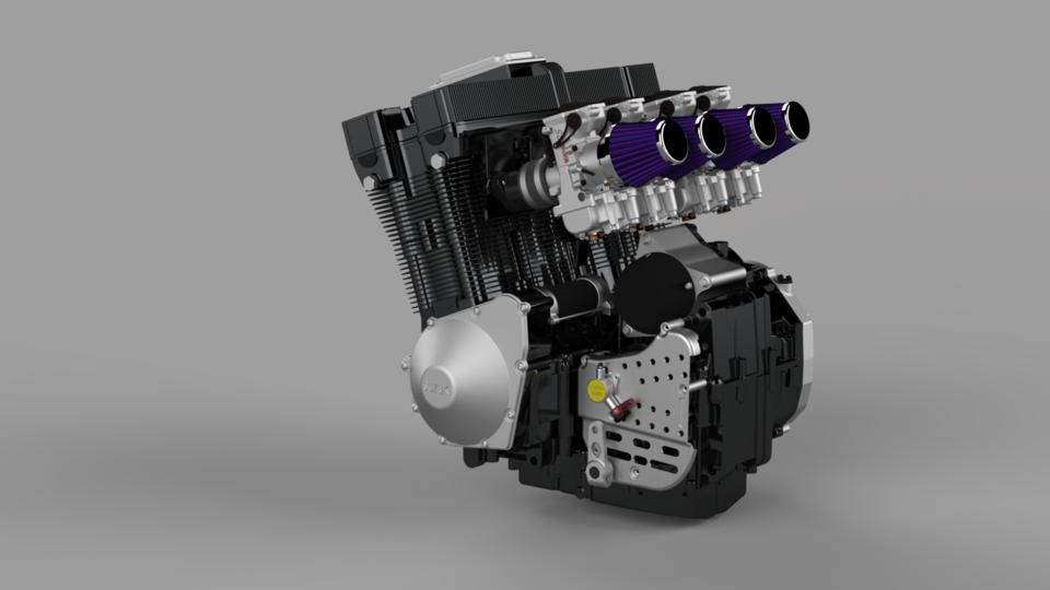 铃木GSX 1100-R 1992年规格引擎3D打印模型插图1