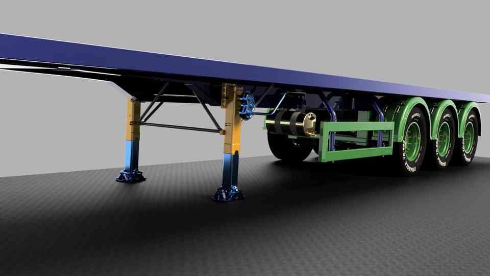 拖车支腿3D打印模型