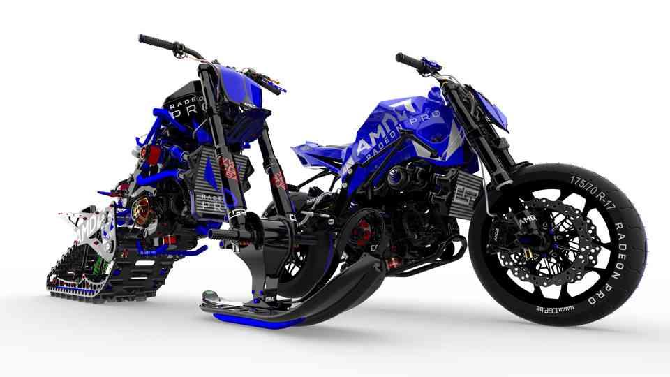 运动车和Snowbike由PAX3D打印模型