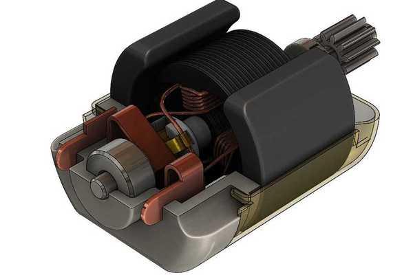 直流电机STL模型