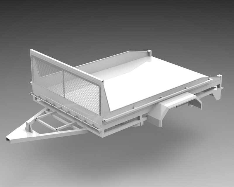 拖车架STL模型免费下载插图1