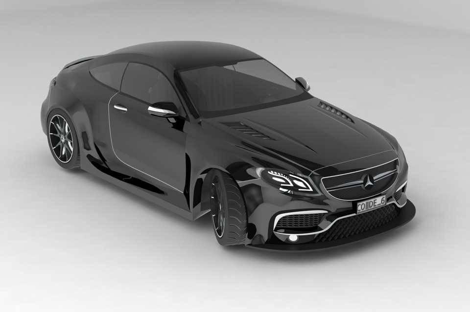奔驰曲面造型STL模型免费下载插图1