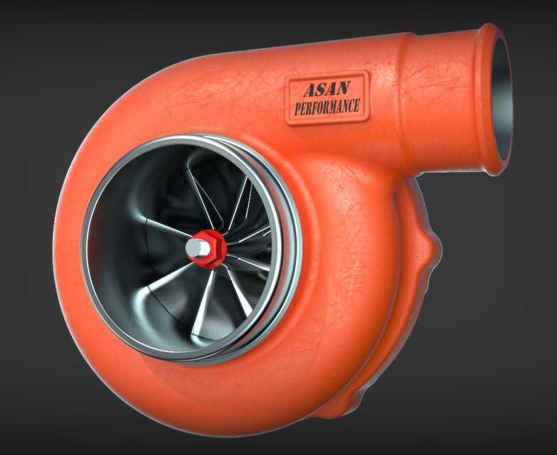 涡轮增压进气系统。STL模型下载插图1
