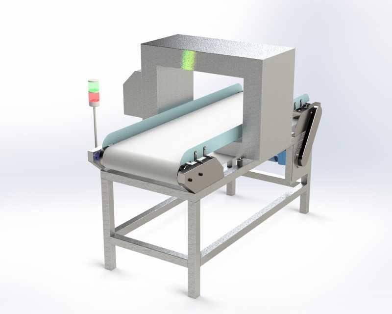 输送机与金属检测器STL模型免费下载插图1
