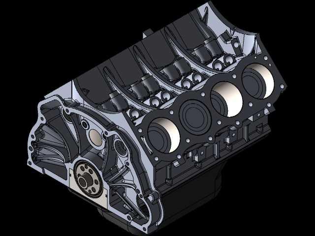 揽胜V8发动机缸体AKA别克2153D打印模型免费下载插图1