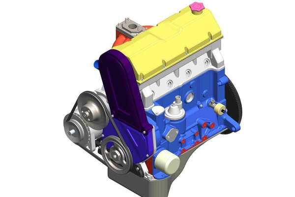 LA(VAZ)2105发动机3D打印模型下载