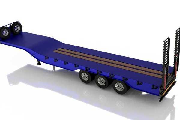 异常拖车14.5米3D模型下载