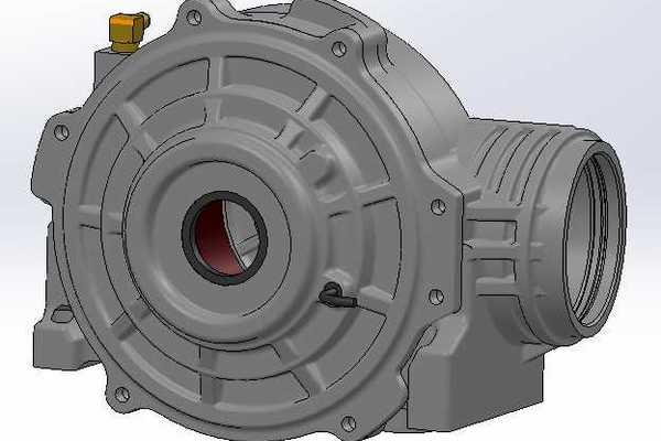 北极星RZR前齿轮箱/差速器STL模型下载