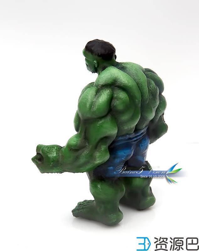 前沿技术尝试,3D打印绿巨人,手涂上色插图19