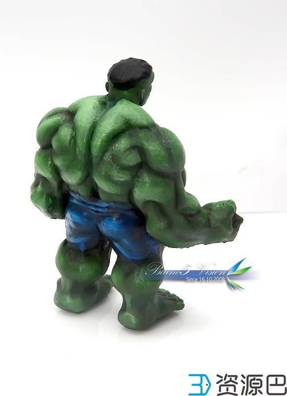 前沿技术尝试,3D打印绿巨人,手涂上色插图17