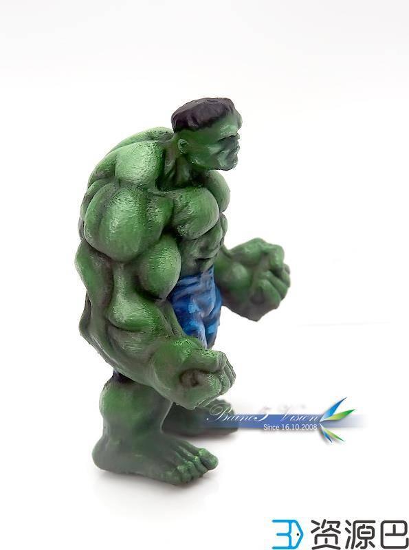 前沿技术尝试,3D打印绿巨人,手涂上色插图15