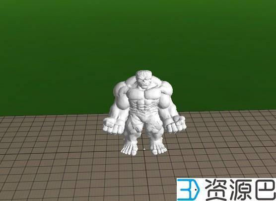 前沿技术尝试,3D打印绿巨人,手涂上色插图1