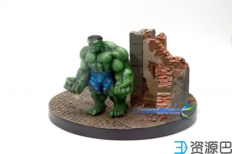 前沿技术尝试,3D打印绿巨人,手涂上色插图21