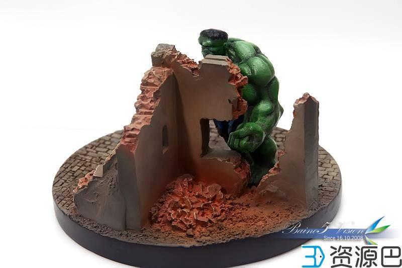 前沿技术尝试,3D打印绿巨人,手涂上色插图23