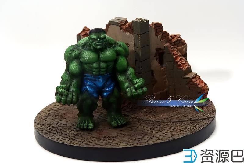 前沿技术尝试,3D打印绿巨人,手涂上色插图25