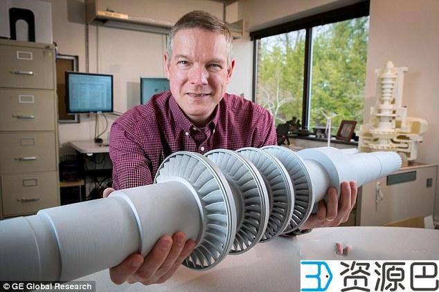GE用3D打印开发的桌面大涡轮机可为一个小镇供电插图1