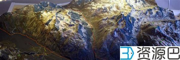 缩小的世界——3D打印地形图模型插图7
