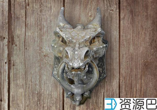 西班牙艺术家打造极具年代感的3D打印龙头门环插图3