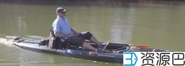 抛开双桨 3D打印帮助皮艇装上电动小马达插图1