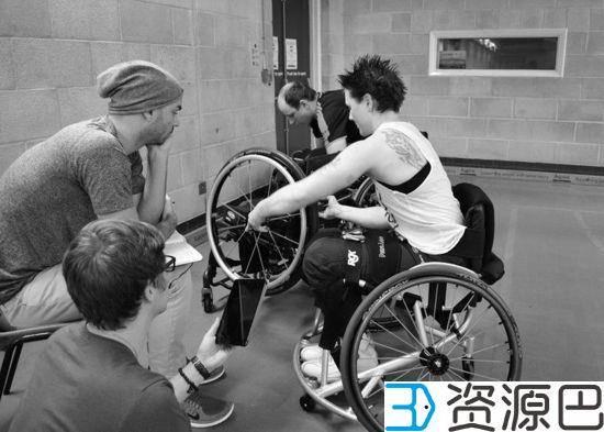 关爱残疾人 3D打印定制化轮椅插图1