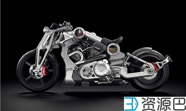140个3D打印零件 3DSystems打造史上最强3D摩托插图3
