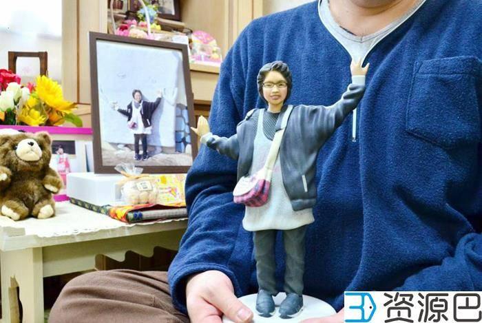 3D打印女儿人像为丧女的日本父亲带来安慰插图1