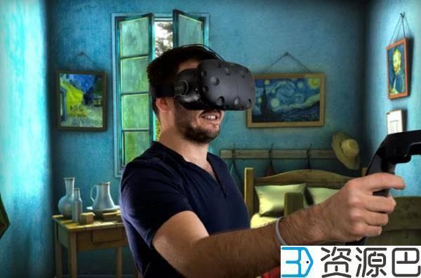 戴着虚拟现实头盔浏览在线3D模型库Sketchfab插图1