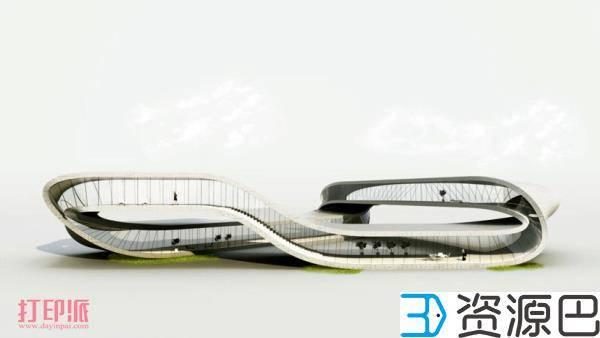 荷兰建筑师计划3D打印一栋莫比乌斯环式建筑插图3