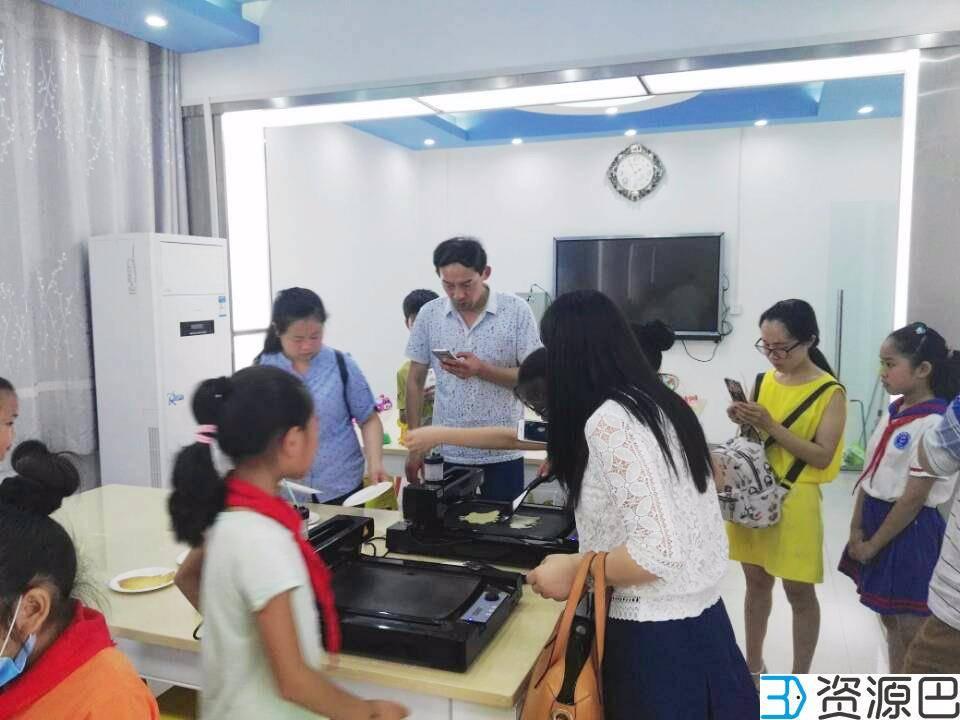 """网云三维3D煎饼打印机亮相""""武汉创客教育直通车""""插图5"""