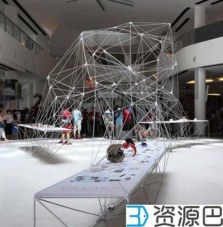 SUTD用3D打印构件组成大型网格式亭子插图3