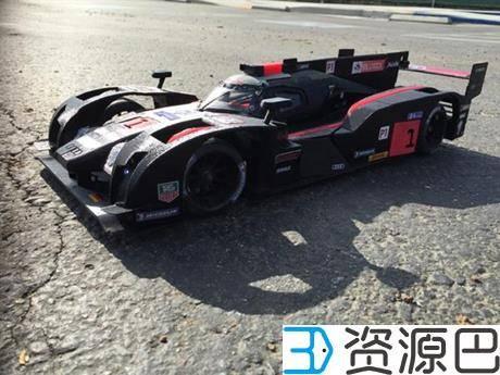 创客为纪念拳王阿里3D打印奥迪R18 E-Tron Quattro遥控赛车插图1